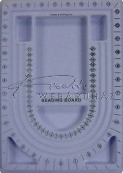 Gyöngyfűző tábla - Gyöngyszámoló tálca ékszer készítéshez - Nagyméretű 33x24cm