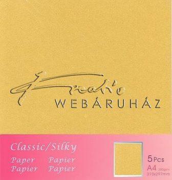 Metál fényű papír - Ocre - Ekrü színű karton 250gr - kétoldalas