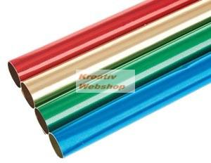 Színes kétoldalas alufóliák, 4db, 4 színű, 30 x 50cm - Díszcsomagoláshoz