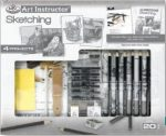 Nagy művészeti oktató készlet - Grafikai szett - 4 különböző kép megrajzolása