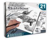 Rajztanítás - Grafikai ajándékkészlet - Tengeri élővilág - 4 db nagyméretű képpel