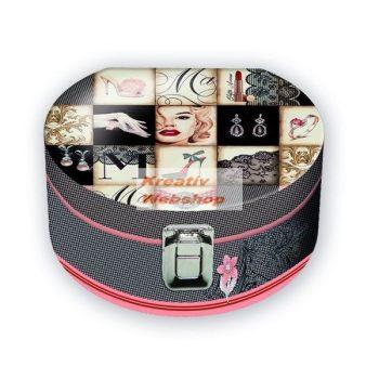 Díszdoboz kerek ékszeres doboz, 22 cm - Madonna