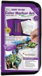 Állatos színező - Filctollas ajándékkészlet gyerekeknek, nagy lila tolltartóban