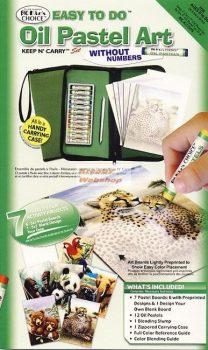 Olajpasztell ajándékkészlet gyerekeknek, nagy színes cipzáras tolltartóban