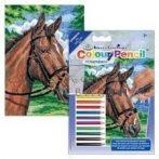 Számozott színező készlet, mini - Ló - Lovas színező