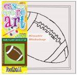 Kifestő készlet vászonra, festékkel és ecsettel - 13x13 cm - Amerikai foci