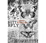Dekupázs rizspapír A4 csomag - Fekete pillangó