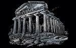 Képkarcoló készlet karctűvel, felnőtteknek - 28x36 cm - Ezüst - Parthenon