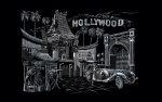 Képkarcoló készlet karctűvel, felnőtteknek - 28x36 cm - Ezüst - Hollywood