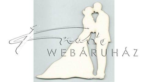 Fafigura - Esküvői pár - 10 cm