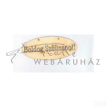 Fatábla BOLDOG SZÜLINAPOT! felirattal 14 x 6 cm