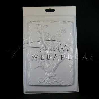Gipszkiöntő sablon - Gyöngyvirág, 20x15cm