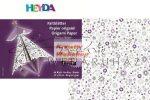 Origami papír - Stardust lila- fehér hajtogató készlet 15x15 cm