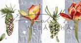 Fenyőtobozok és virágok Szalvéta dupla méretű képpel