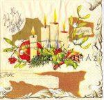 Karácsonyi gyertyák Szalvéta