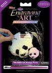 Képkarcoló készlet karctűvel - 13x18 cm - Holografikus - Panda