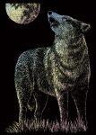 Képkarcoló készlet karctűvel - 13x18 cm - Holografikus - Farkas