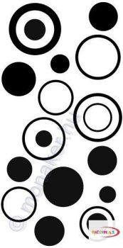 Fekete falmatrica - Absztrakt minta #65