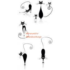Fekete falmatrica - Karcsú macskák