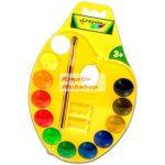 Crayola vízfesték készlet színes palettával