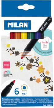 Textilfilc készlet - 6 színű - MILAN