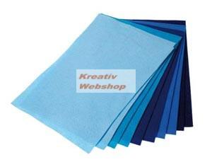 Filclap csomag - A4, kék színek, 10 lap - Újra kapható!