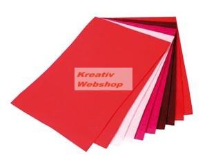 Filclap csomag - A4, piros színek, 10 lap