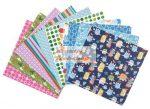 Origami papír - Nagyon vidám színes minták gyerekeknek, hajtogató készlet 20x20 cm, 50 lap