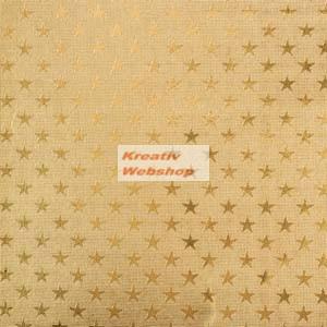 Arany színű csillagos alufólia tekercs, 10mx50cm