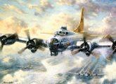 Kifestő készlet számokkal, ecsettel, felnőtteknek - 30x40 cm -  Repülő erőd
