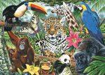 Kifestő készlet vászonra, akrilfestékkel, ecsettel - 28x36 cm - Állatkert