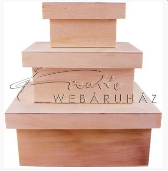 Díszíthető téglalap alapú doboz készlet, 3 darabos, 10 x 6,2 x 5,5cm, 14 x 10 x 6,5 cm és 1
