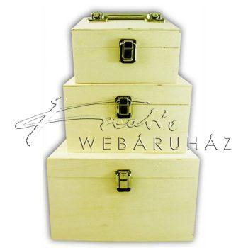 Díszíthető doboz készlet 3 darabos, fogantyús 23.5 x 23.5 x 14 cm