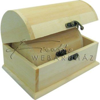 Díszíthető doboz készlet, kincsesláda, 2 darabos, félköríves 18 x 11,8 x 11,8 cm