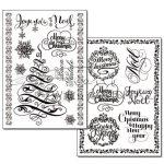 Transzfer papír - Karácsony anno (vintage) minta - 2 ív A4