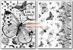 Transzfer papír - Lepkék és szitakötők