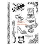 Gumi nyomda - Esküvői motívumok - Részletgazdag pecsételő