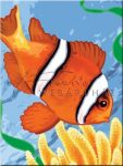 Kifestő készlet akrilfestékkel, ecsettel, gyerekeknek 8 éves kortól - 20x25 cm - Bohóchal