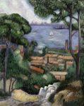 Kifestő készlet vászonra, akrilfestékkel, ecsettel, felnőtteknek - 28x36 cm - Tengerparti villa