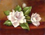 Kifestő készlet vászonra, akrilfestékkel, ecsettel, felnőtteknek - 28x36 cm - Magnóliák