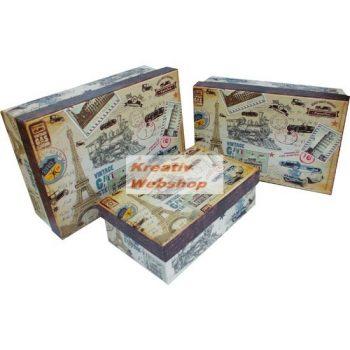Díszdoboz - Levelezőlap dobozkészlet - 3db