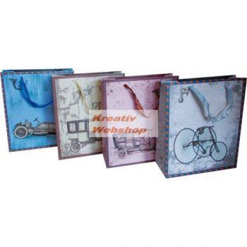Ajándéktáska, ajándéktasak, dísz tasak - Vintage mintás, 25x18x7,5 cm - különböző minták