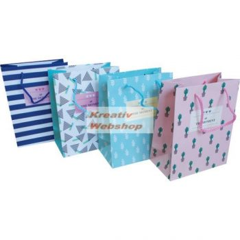 Ajándéktáska, ajándéktasak, dísz tasak - Happy, Moment 25x18x7,5 cm - különböző minták