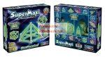 Mágneses építőjáték - Sötétben foszforeszkáló - Supermaxi 44