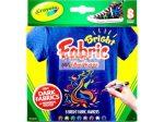 Textilfestő filctoll készlet - Élénk színek - Crayola