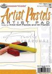Művészpapír - Artist Pastels 150gr tört fehér színű papír pasztellekhez, 18x13cm - Kifutó