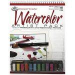 Akvarell festőkészlet 23x30,5cm - 14 részes művész készlet