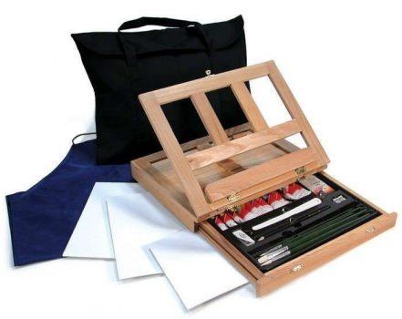 Óriás olaj festőkészlet asztali fadobozos festőállvánnyal, hordtáskával - Royal - Újra kapható
