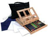 Óriás asztali színesceruza készlet asztali festőállvánnyal, hordtáskával - Royal Grand