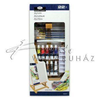 Nagy akril festőkészlet asztali festőállvánnyal - Royal Acryl 22 részes szett